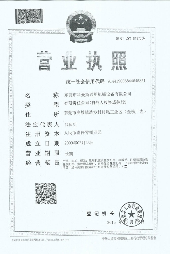 Business License After Company Renaming